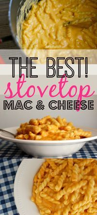 The BEST stovetop mac & cheese recipe. With easy step-by-step pictures and instructions.