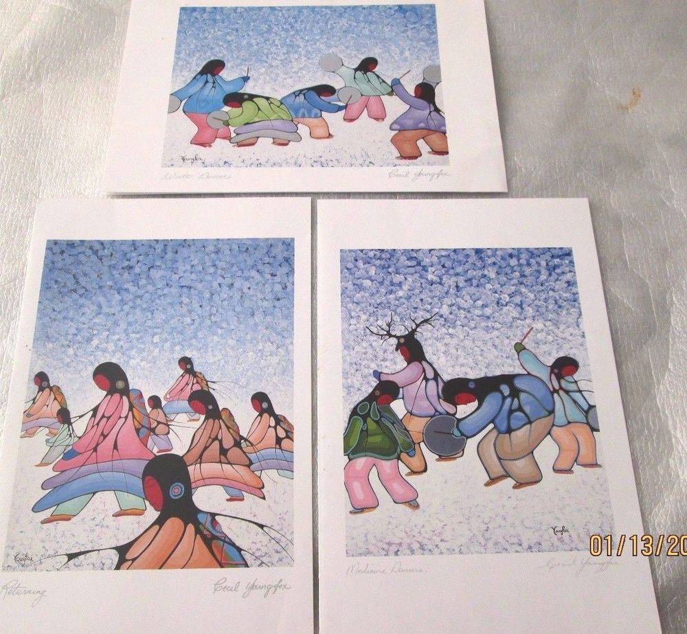 Canadian indian prints lot by cecil youngfox different full