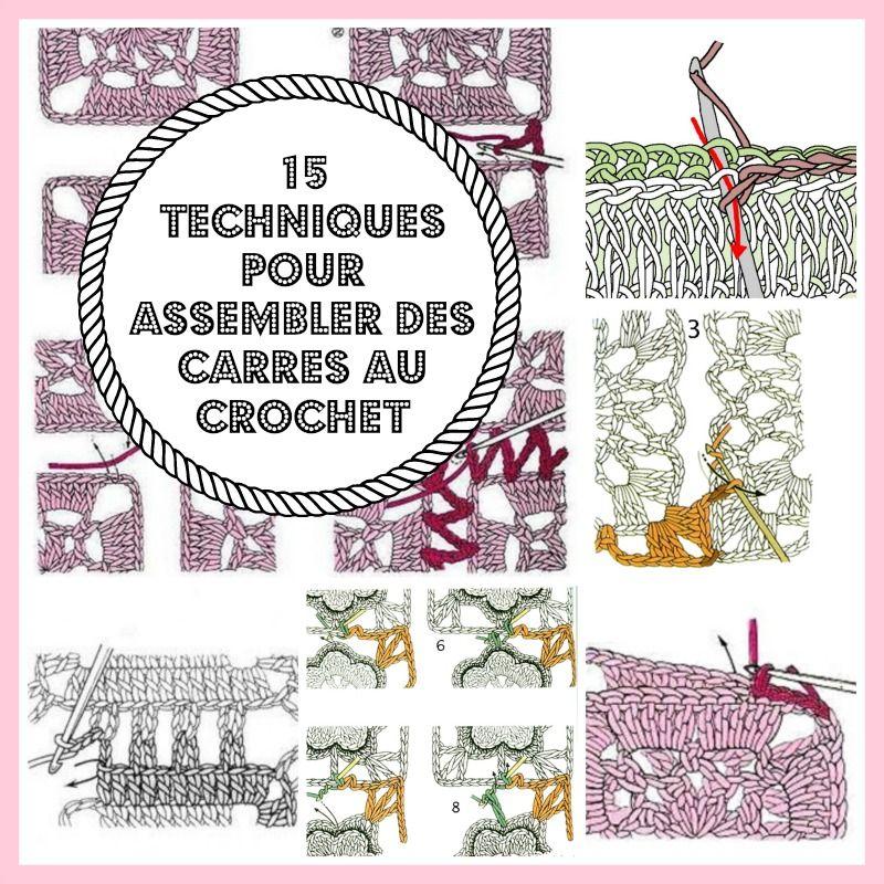 MES FAVORIS TRICOT-CROCHET: 15 techniques pour assembler des carrés ...