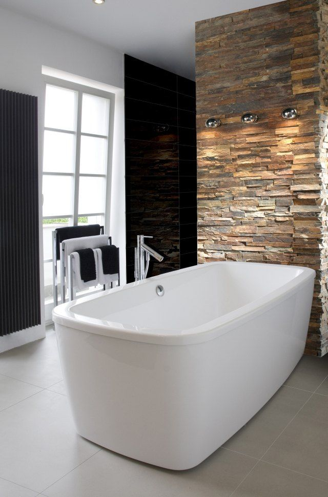 bad fliesen ideen azteca naturstein optik wandfliesen badewanne badezimmer pinterest. Black Bedroom Furniture Sets. Home Design Ideas