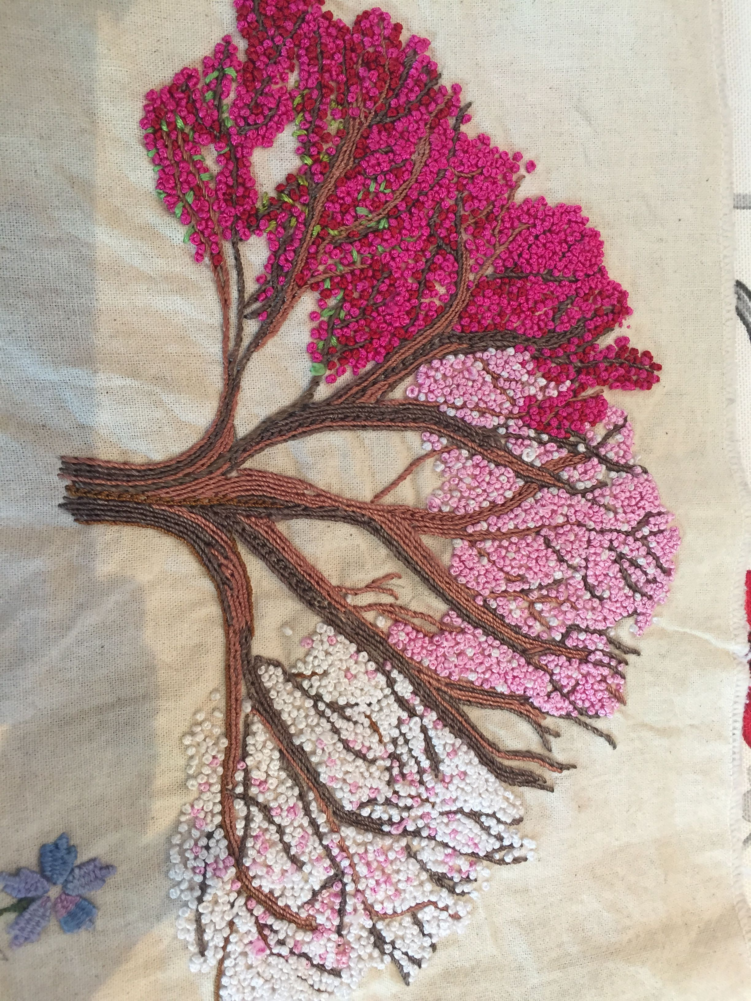 Beautiful embroidery seasons daisy stitch leaves for summer