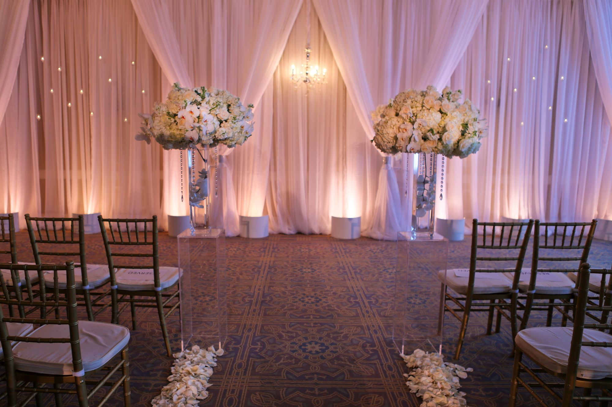 JL IMAGINATION Lighting Design & Drapery Wedding drapery