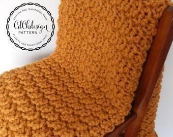 Photo of Instant Download Crochet Pattern Chunky Crochet Throw | Etsy…  #Afghan #beginn…