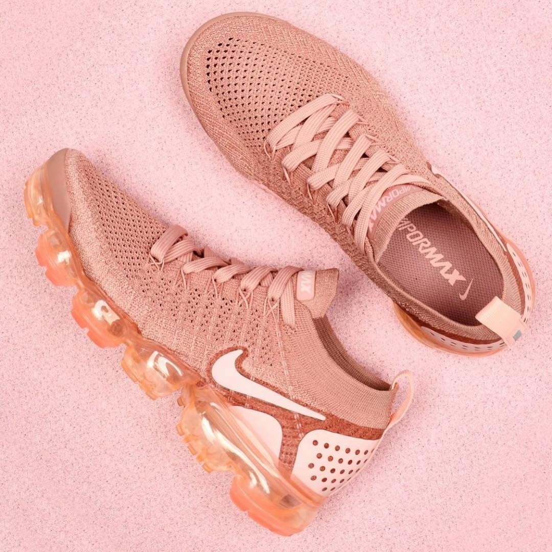 a03103ecabd2 The Nike Air VaporMax Flyknit 2 Rust Pink is a classic womens shoe with  standout style originating from the Nike VaporMax range.