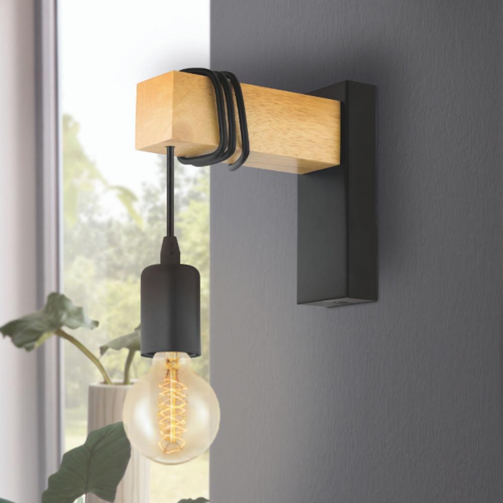 Black Wood 1 Light Wall Hanging Pendant Citizen Soak Com Lampada De Parede Luzes Penduradas Ideias De Decoracao Para Casa