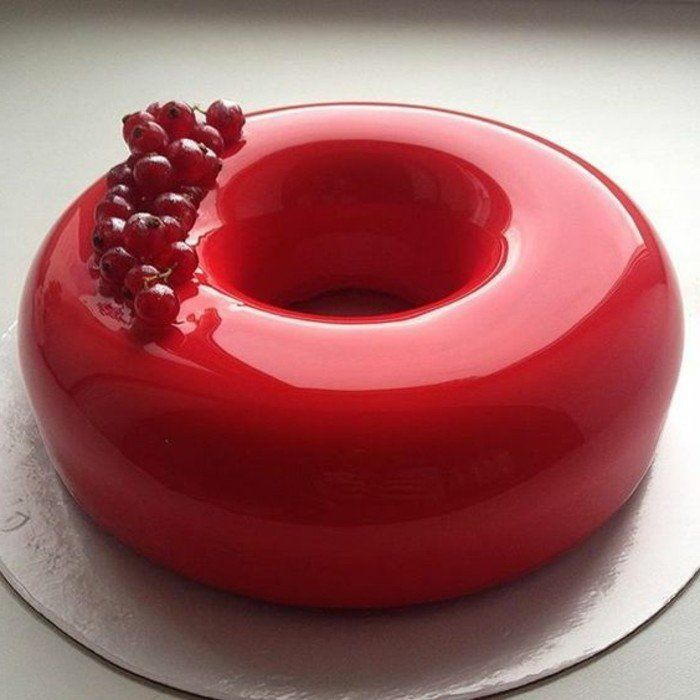 100 photos de desserts au gla age miroir et quelques for Miroir rouge