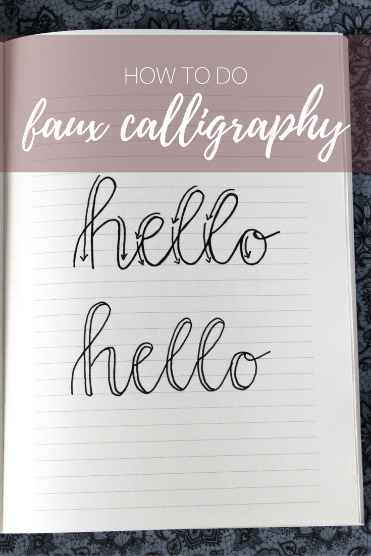 Handlettering faux calligraphy ganz einfach bullet