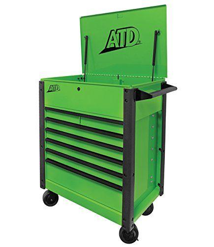atd werkzeuge 70400 88,9 cm 7-drawer klappverschluss werkzeug ...