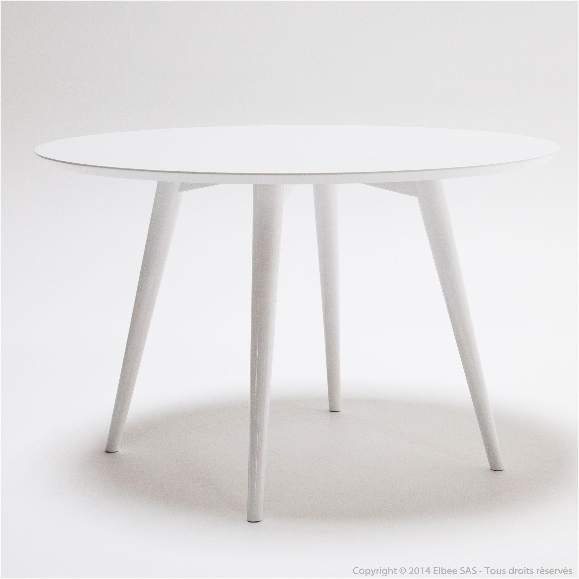 8 Authentique Table Ronde Blanche Avec Rallonge Collection