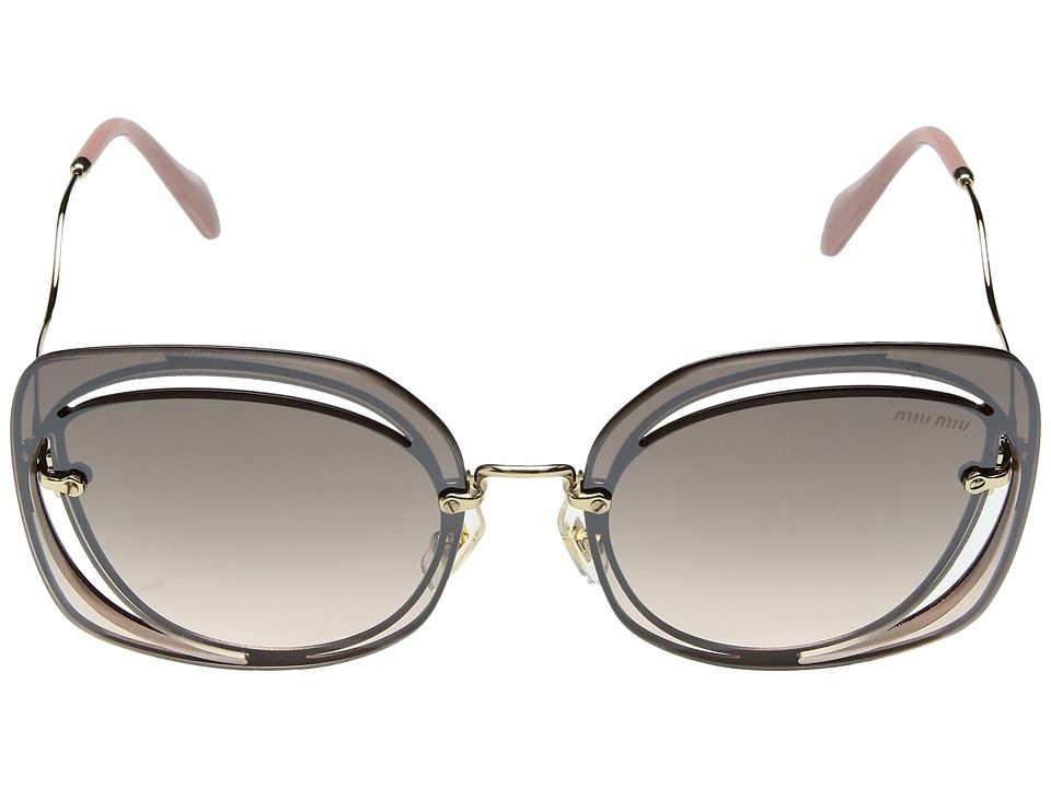 950c3c8d4dc1 Miu Miu 0MU 54SS. Miu Miu 0MU 54SS Fashion Sunglasses Brown Pale Gold  Gradient Brown Mirror Silver
