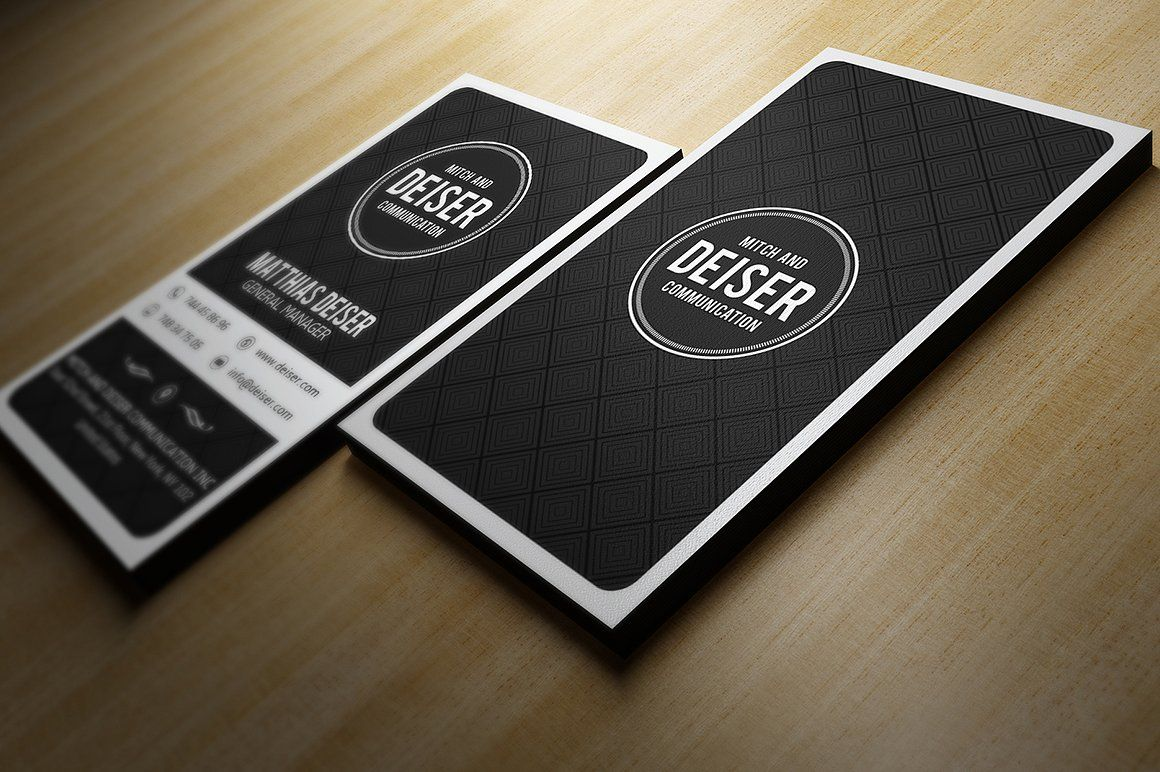Black And White Business Card by Marvel on @creativemarket ...