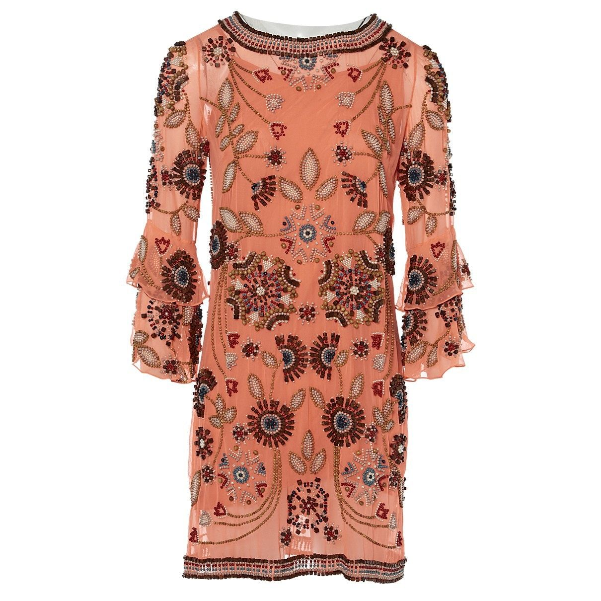 Silk Mid Length Dress Matthew Williamson Orange Size 8 Uk In Silk 4222307 Mid Length Dresses Dresses Clothes Design