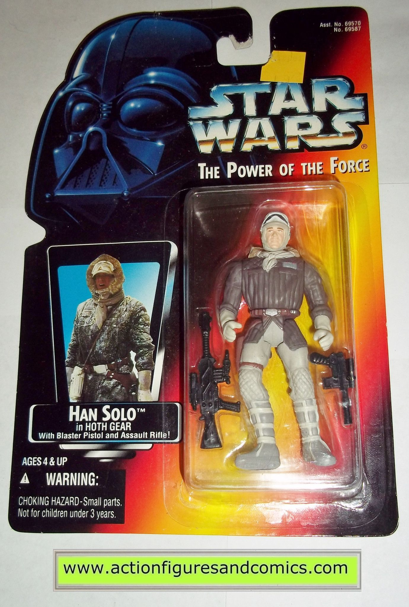 star wars action figures HAN SOLO HOTH GEAR open hand power of the