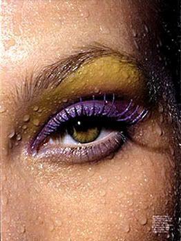 Purple and Mustard/Yellow #makeup great eyeshadow for lsu...!
