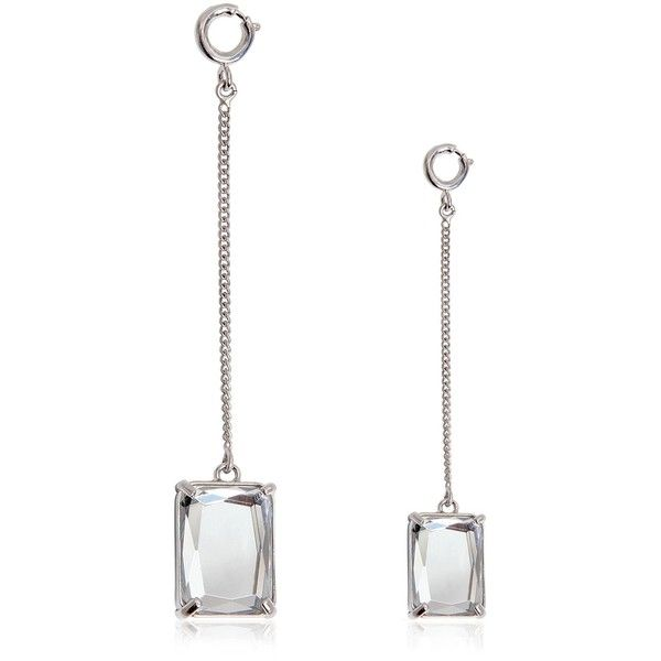 MAISON MARGIELA Asymmetrical Crystal Drop Earrings (12.295 CZK) ❤ liked on Polyvore featuring jewelry, earrings, transparent, crystal earrings, crystal jewellery, maison margiela, crystal jewelry and drop earrings