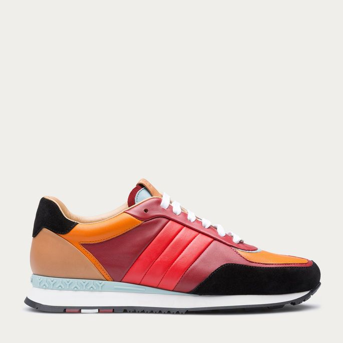 8cbad3825237b ASYIA - BALLY RED 14 CALF Sneakers
