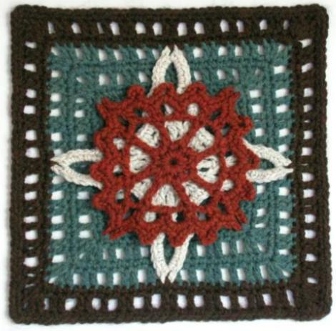 Free crochet afghan pattern: Maritime Overlay   My hobby is crochet ...