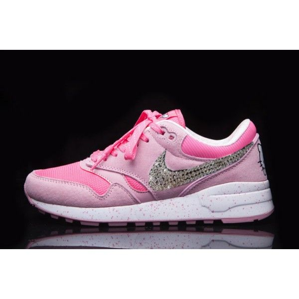 2016 hello Kitty Running Shoes With Swarovski Crystal Swooshs Nikes Glitter  For Womens e435524a8