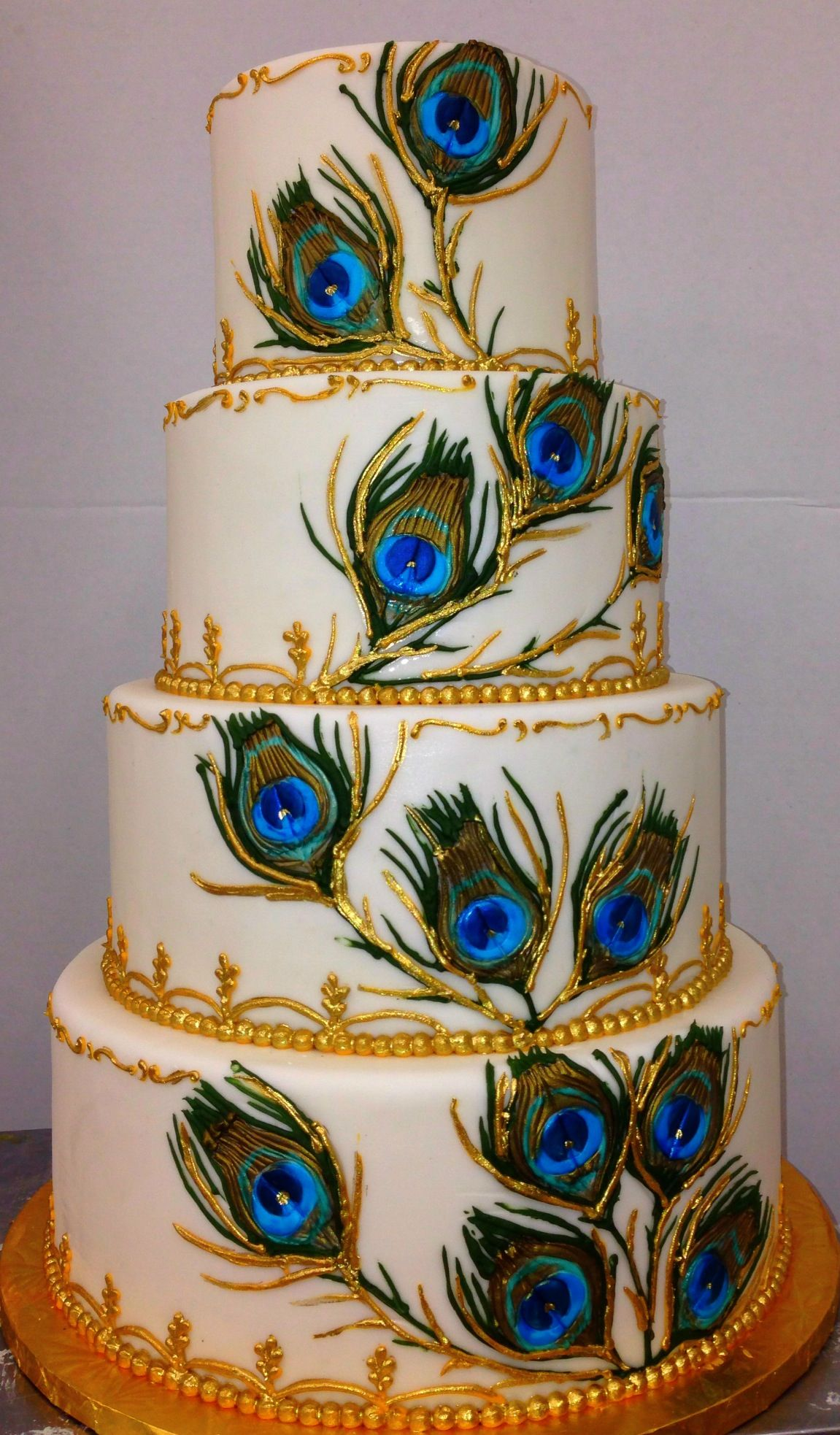Peacock Feathers Feather Wedding Cake Wedding Cake Images Peacock Wedding Cake