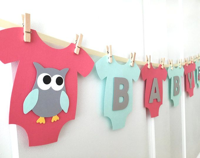 Baby One Piece Bodysuit Baby Girl Baby Shower Banner Pink And