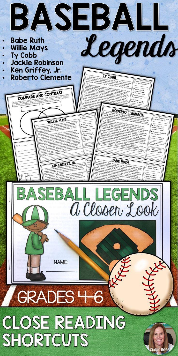 Students Love Baseball Legends Close Reading Passages These No Prep Close Reading Printables And Cl Close Reading Reading Comprehension Close Reading Passages [ 1472 x 736 Pixel ]