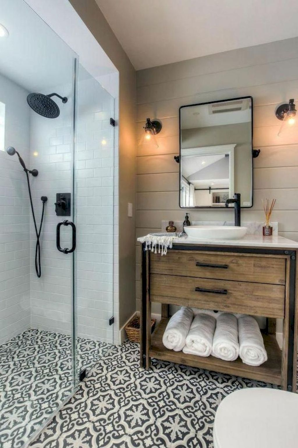beautiful farmhouse bathroom remodel ideas also before and after with lowes dream rh pinterest