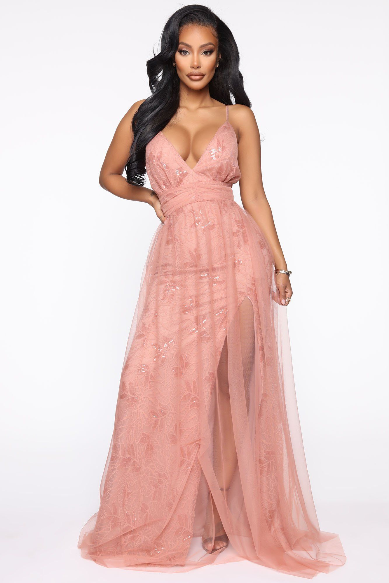 Forever More Tulle Maxi Dress Mauve in 2020 Corset