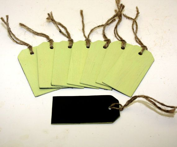 Chalkboard Tag Wood Green With Jute Wedding Table Numbers Organization