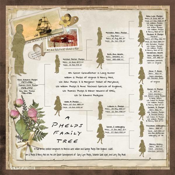Phelps Family Treeeresting Heritage Layout Similiar Idea
