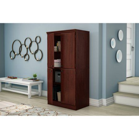South Shore Morgan 4-Door Storage Cabinet, Multiple Finishes ...