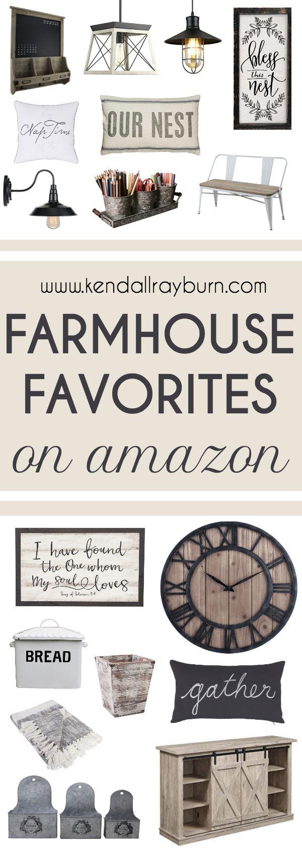 Farmhouse Home Decor on Amazon - here are some #farmhouse #fixerupperstyle decor items for the home! #affiliate #fixerupper #farmhouse