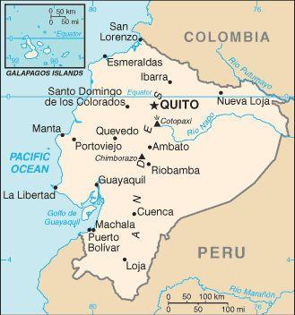 ecuador map Ecuador South america and Guayaquil