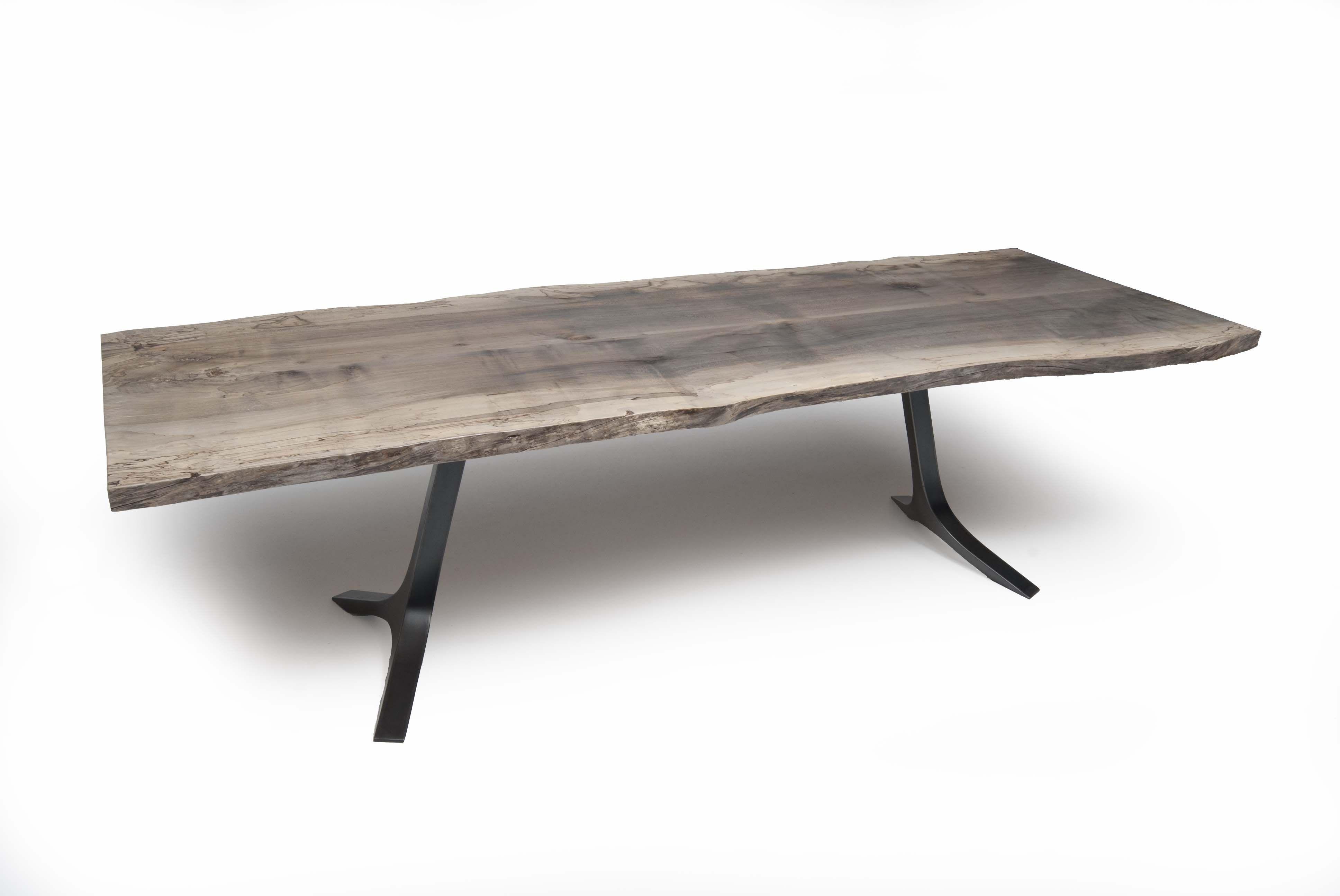 Oxidized Maple Slab Table