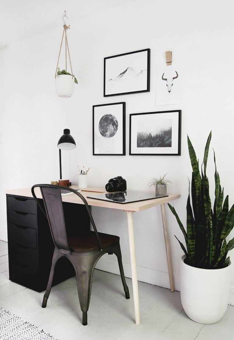 Diy modern wood desk with drawers in 2020 modern wood