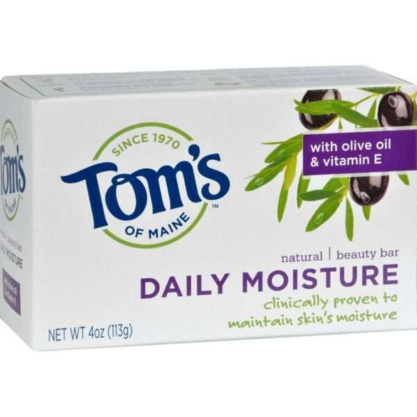 Give your skin the care it craves – without the artificial and synthetic ingredients found in many conventional brands. This ultra-rich bar soap formula from Tom's of Maine contains premium moisturizing olive oil, natural vitamin E and leaves your skin clean and fresh. It's clinically proven to maintain the moisture of your skin with every use.