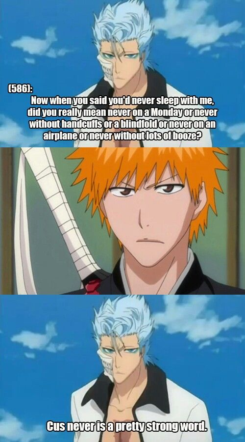 Grimmichi Confessions On Tumblr Bleach Anime Bleach Funny