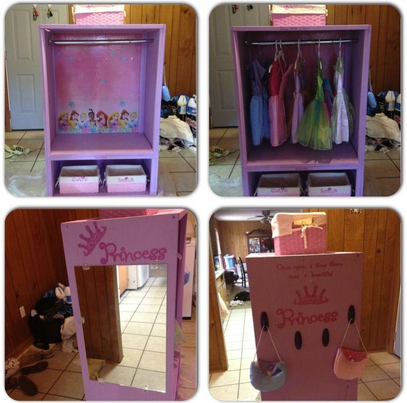 Chloe's princess dress up closet! DIY