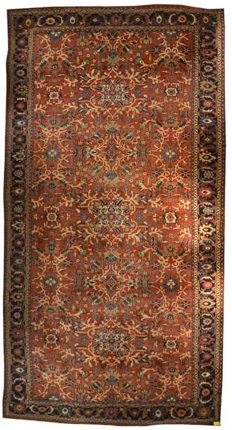 MAHAL CARPET, Persia, ca. 1920; 20 ft. 8 in. x 10 ft 9 in