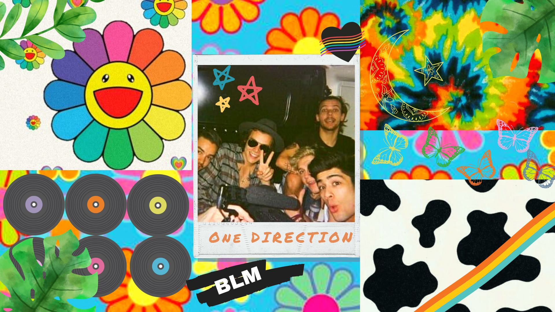 Indie One Direction Wallpaper One Direction Wallpaper One Direction Collage Aesthetic Iphone Wallpaper