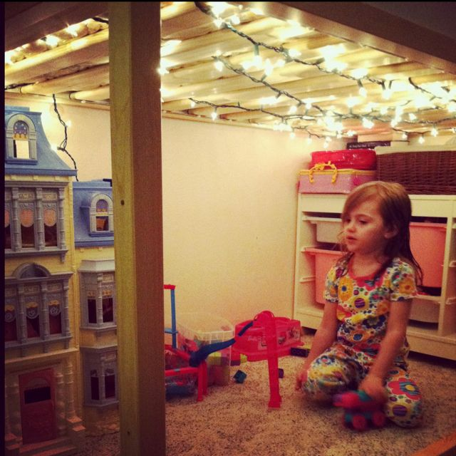 Ikea Loft Bed I Put Christmas Lights Underneath It Works So Much