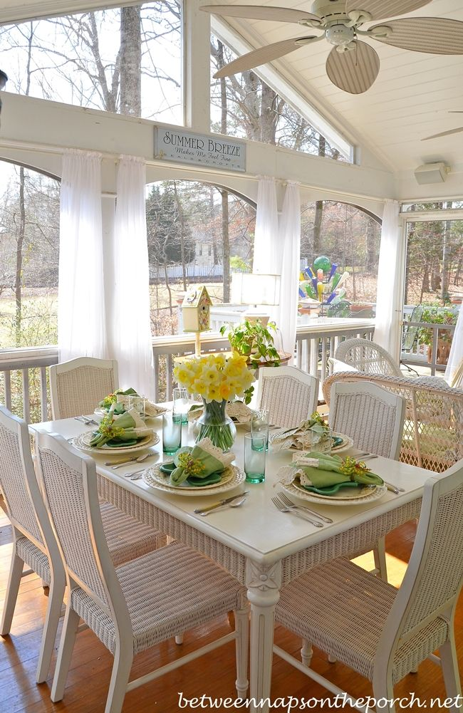 St Patrick S Day Spring Table Setting Table Settings