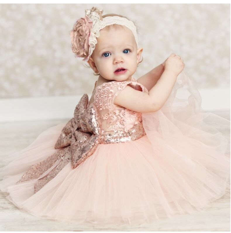 Baby girls clothes flower girls wedding dresses pink bridesmaid ...