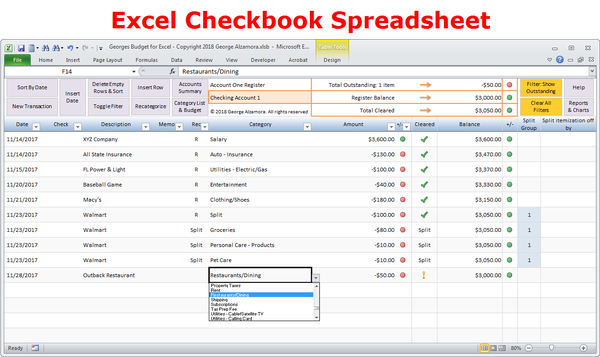 Georges Budget For Excel V12 0 With Images Budget Spreadsheet