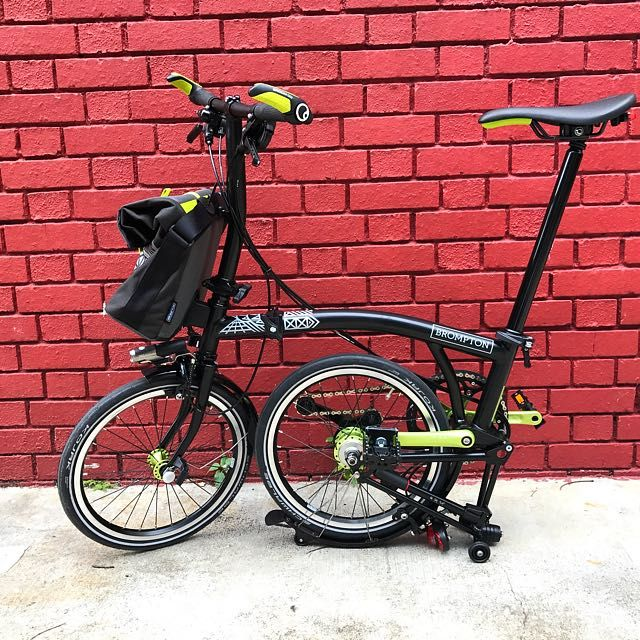 Buy Brand New 2017 S2l Nyc Limited Edition Brompton For Sale In Singapore Singapore Brand New 2017 Nyc Limited Edition Series Nyc Edition Ergonomic Grips