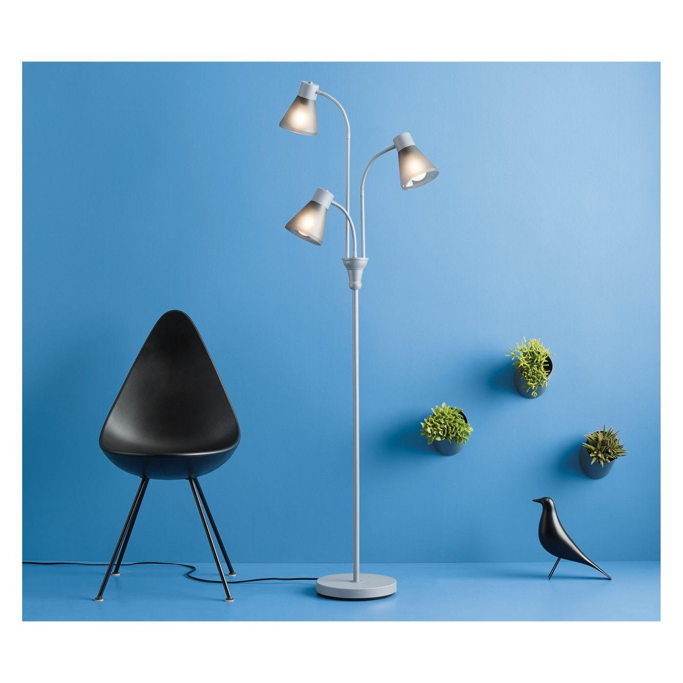 Multi Head Floor Lamp Gray Room Essentials Image 3 Of 3 With