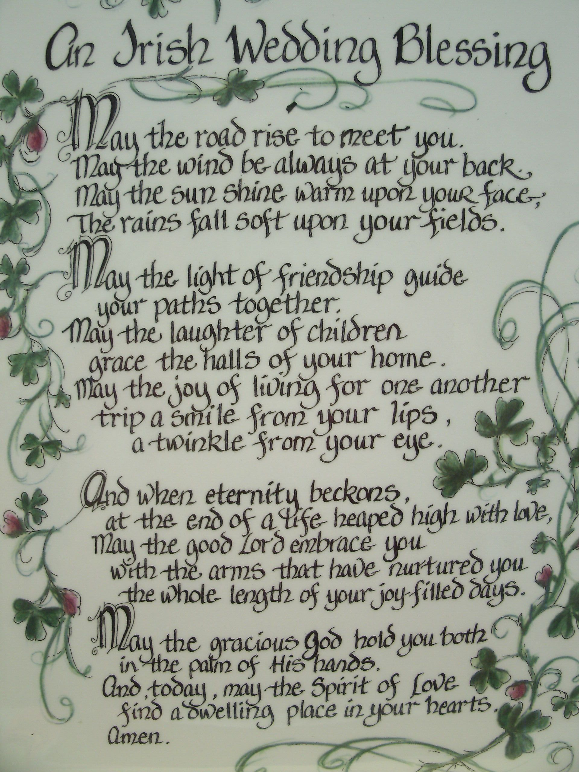 Irish Marriage Blessing This Plaque Is Made On Mdf And Has