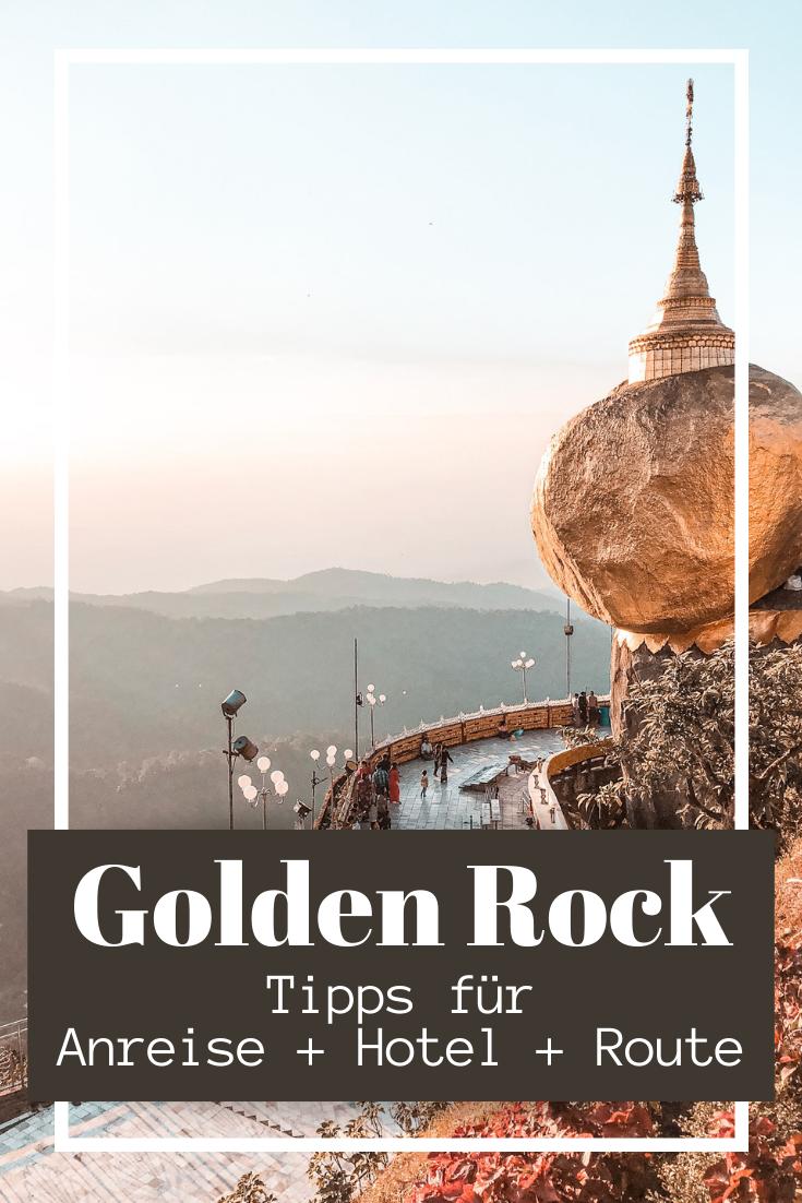 Golden Rock in Myanmar - Übernachtung & Anreise zum Goldenen Felsen ⋆ Child & Compass -  Golden Rock in Myanmar: Tipps für den Goldenen Fels, Anreise zum Goldenen Felsen, Route für Myanmar Rundreise, Myanmar Fotos und Inspiration #myanmar #burma #birma #goldenrock