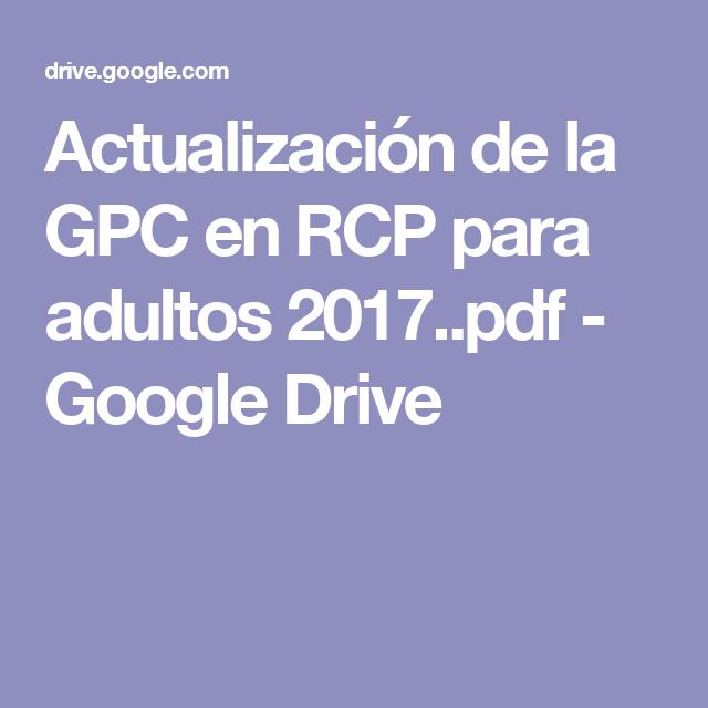 Rcp para adultos pdf