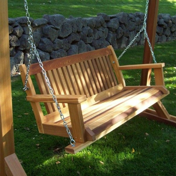 Comfortable Garden Swing For Fun Garden Accessories Exterior Design 1