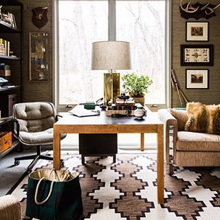 Monday vibes. Stunning home office design by @carrierandco. | Via Instagram: @scoutandnimble